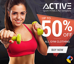 Active - Sport HTML5 Ad Template