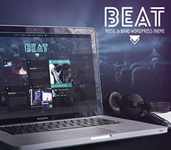Beat One-Page Music & Band AJAX WordPress Theme