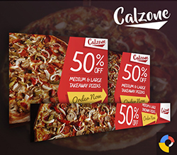 Calzone - Restaurant HTML5 Ad Template