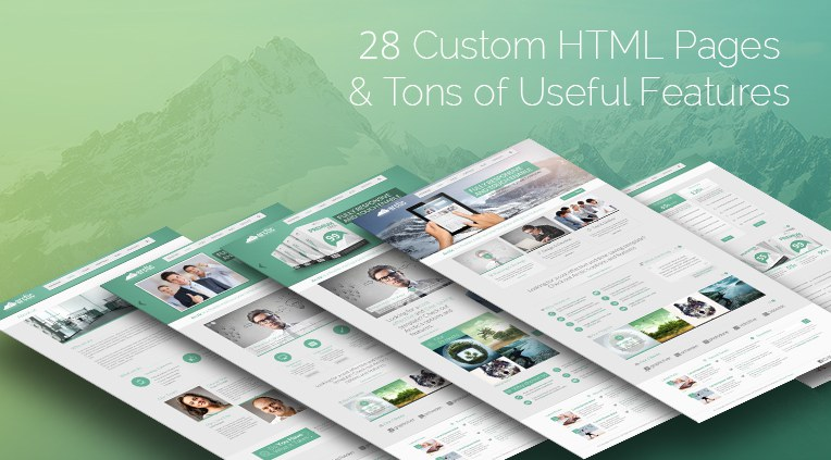 28 custom html pages and tons of useful features