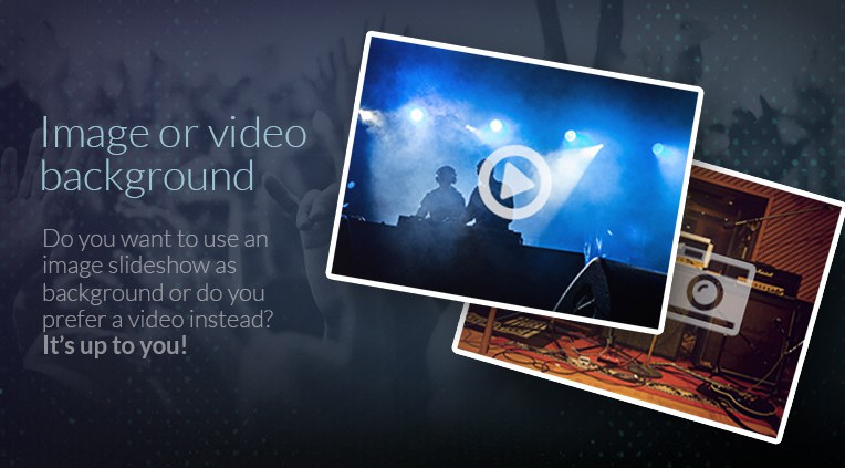 Image and video background