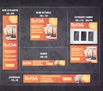 4 standard banner sizes and 1 expandable banner with video Thmbnail
