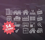 Custom font icon specially designed for Cozy Real estate Template with 54 icons Thumbnail