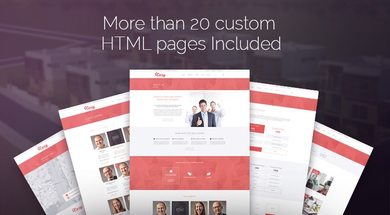 More than 20 custom html pages included