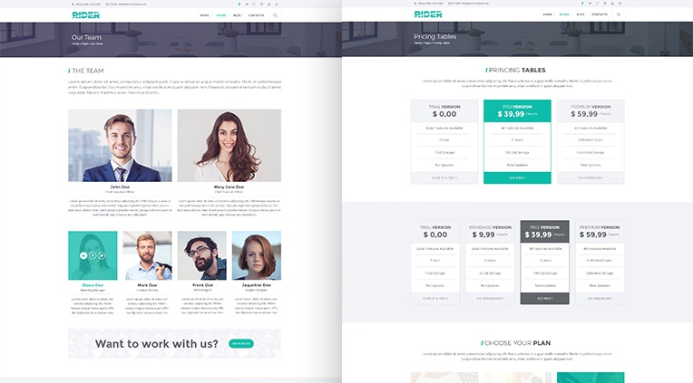Rider business psd template wajeb Choice Image