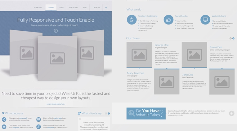 Wise ui kit preview image 3