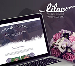 Lilac  Onepage Wedding Wordpress Theme