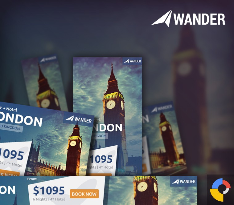 Wander Travel HTML5 Ad Template