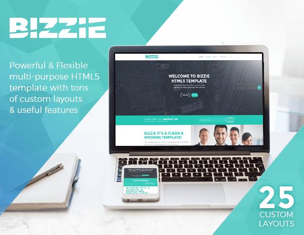 Bizzie - Responsive Business HTML5 Template - 1