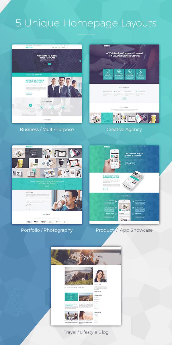 Bizzie - Responsive Business HTML5 Template - 3