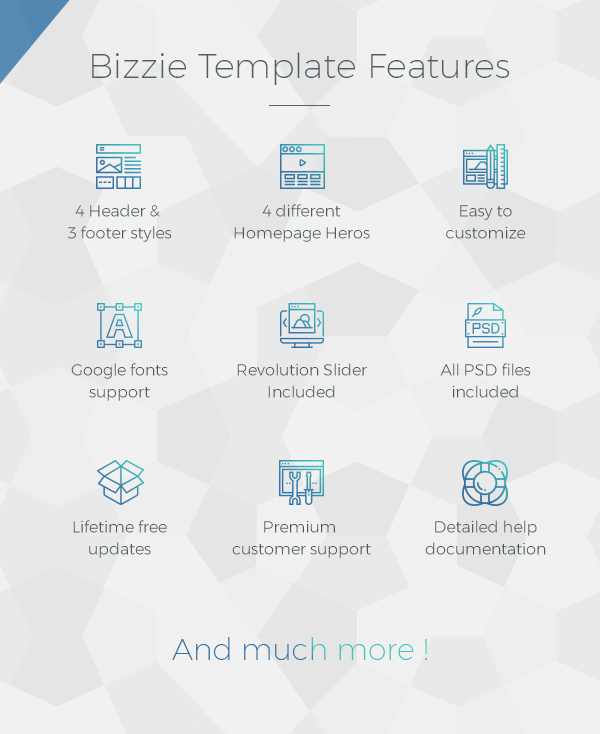Bizzie - Responsive Business HTML5 Template - 4